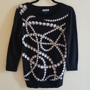 Cynthia Rowley Printed Sweater